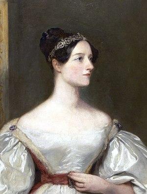 Ade Lovelace (1815 - 1852), Mathematikerin und Programmiererin, Quelle: Wikipedia
