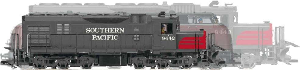 SD 40 und V200 im direkten Vergleich und mit korrekter Länge der SD 40, Quelle: LGB, eigene Fotomontage