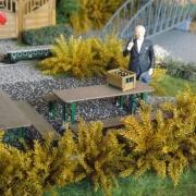 Auch der alte Adenauer hat in seinem Garten eine Gartenbahn, Quelle: Holger Gatz