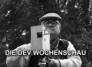"""Jubiläum des DEV 2016: """"Wochenschau-Kameramann"""" Wolfgang Gerwien bei den Aufnahmen."""