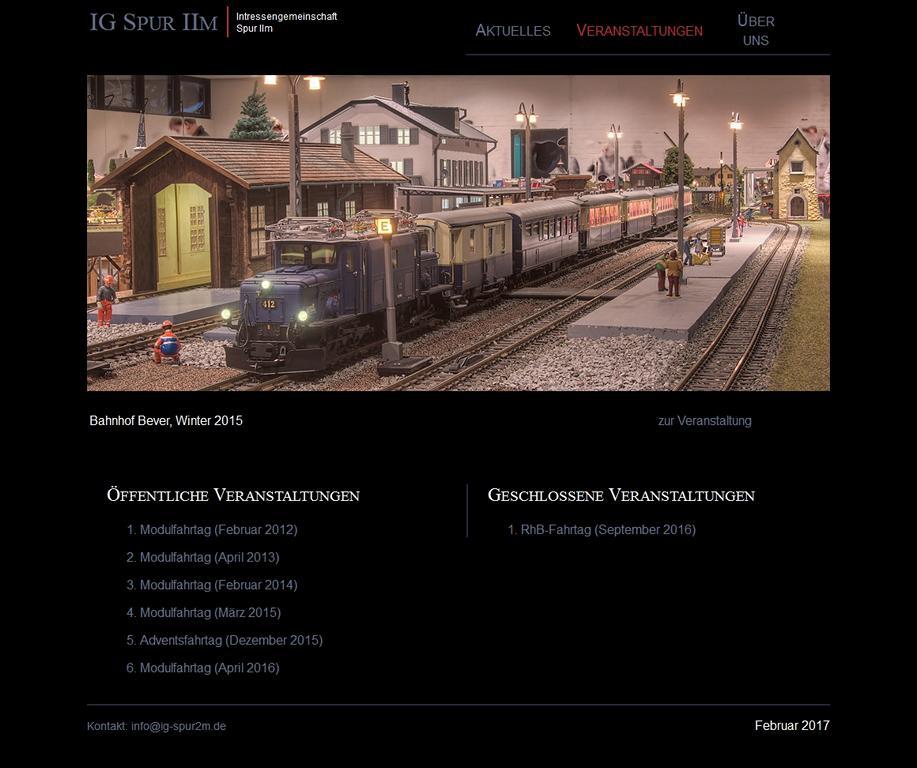 Neue Website der IG Spur 2m Freunde Wietze, Quelle: Website der IG