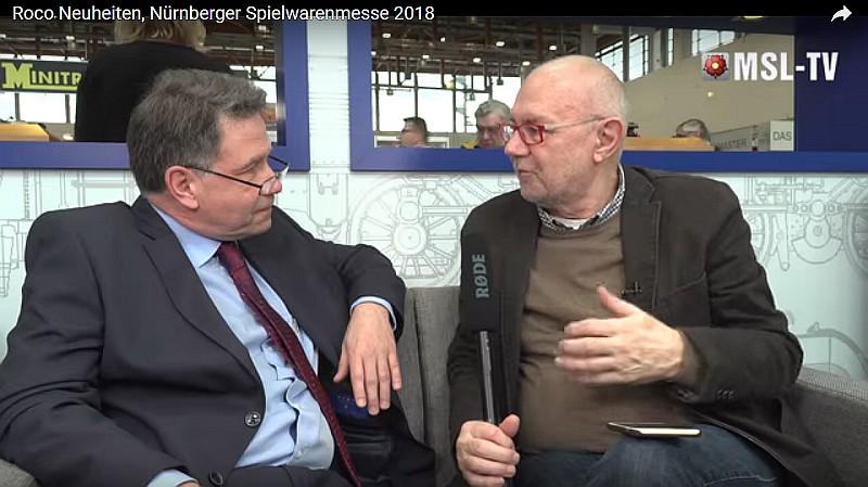 Frank Buttig auf der Nürnberger Spielzeugmesse 2018 (Quelle MSL-TV)